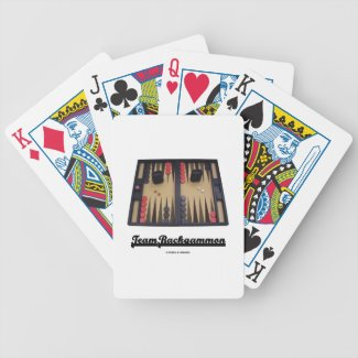 Team Backgammon (Backgammon Board) Bicycle Playing Cards