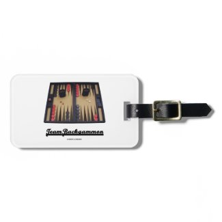 Team Backgammon (Backgammon Board) Tags For Bags