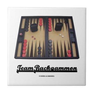 Team Backgammon (Backgammon Board) Small Square Tile