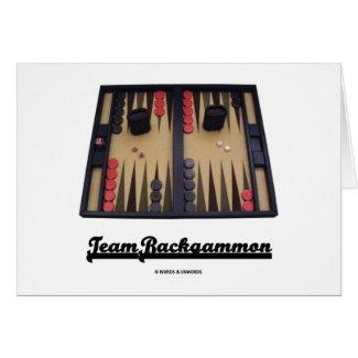 Team Backgammon Card