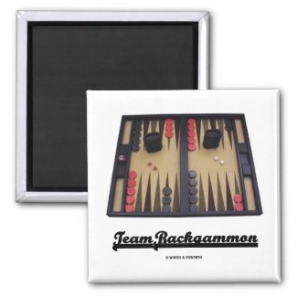 Team Backgammon Fridge Magnet