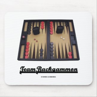 Team Backgammon Mousepad
