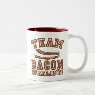 TEAM BACON is SIZZLING Tshirts, Mugs, Gifts Two-Tone Coffee Mug