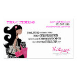 Team BAG Ladies Biz Cards Double-Sided Standard Business Cards (Pack Of 100)