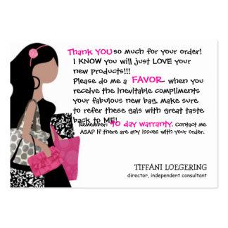 Team BAG Lady customer thank you cards