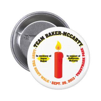 Team Baker-McCarty Light the Night Walk 2013 Pinback Button