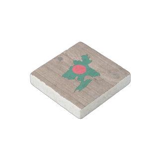 Team bangladesh Flag Map on Wood Stone Magnet