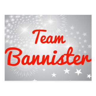 Team Bannister Postcard