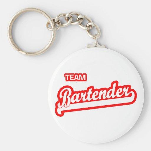 Team Bartender Basic Round Button Keychain