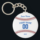 "Team Baseball Sport Keychain<br><div class=""desc"">Gift your baseball team. Enter your team name,  player name,  number and year.</div>"