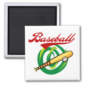 Team Baseball T-shirts and Gifts 2 Inch Square Magnet