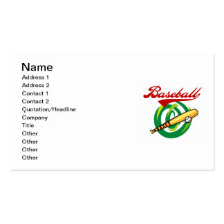 Team Baseball T-shirts and Gifts Business Card