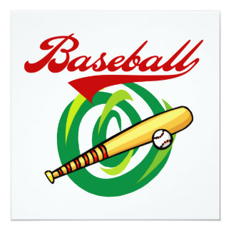 Team Baseball T-shirts and Gifts Invitation