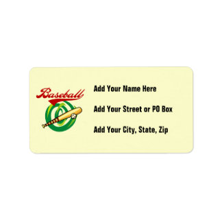Team Baseball T-shirts and Gifts Label