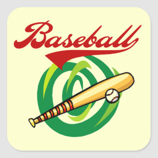 Team Baseball T-shirts and Gifts Square Sticker