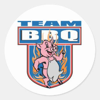 Team BBQ Pork Classic Round Sticker