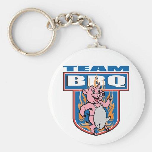 Team BBQ Pork Keychain