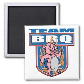 Team BBQ Pork Magnets