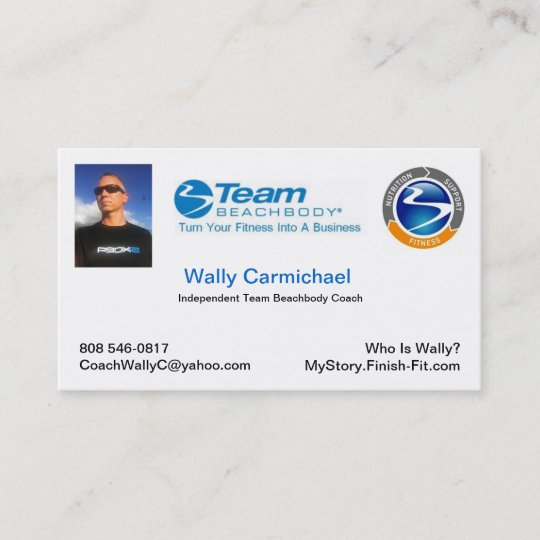 Team beachbody business card zazzle team beachbody business card colourmoves