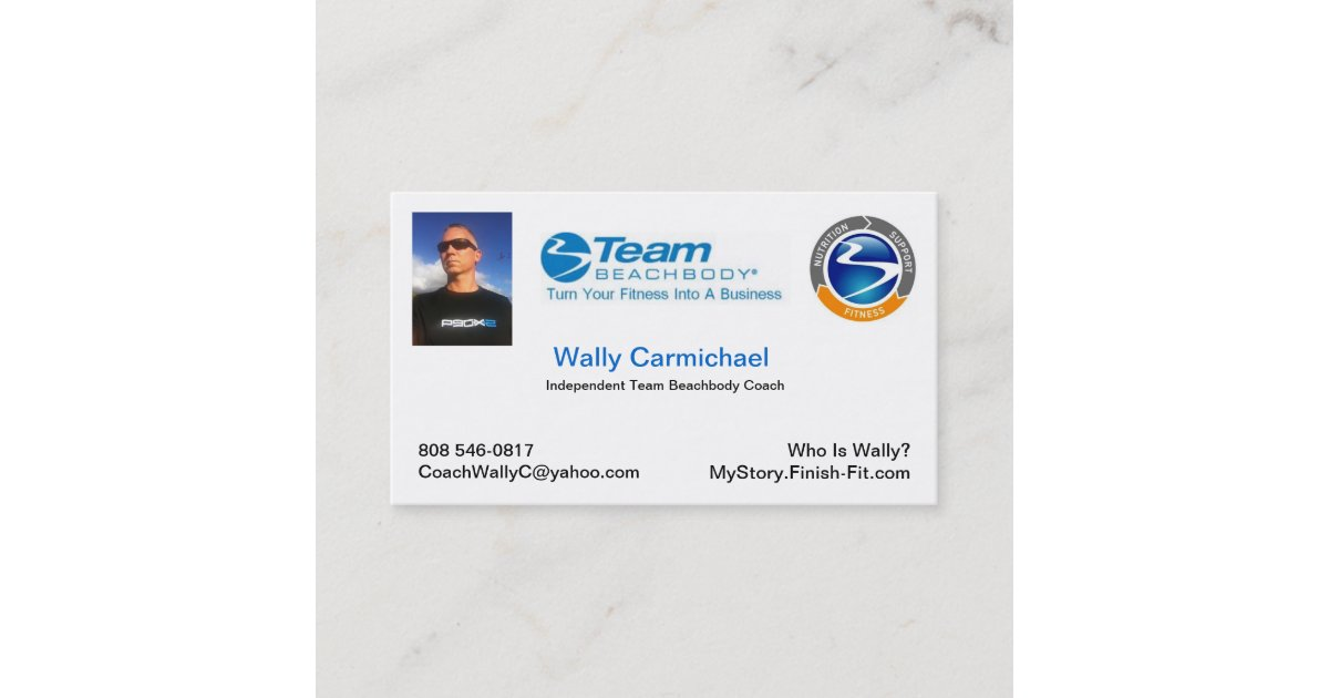 Team Beachbody Business Card | Zazzle.com