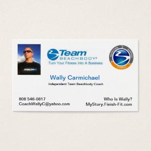 Team business cards templates zazzle team beachbody business card colourmoves