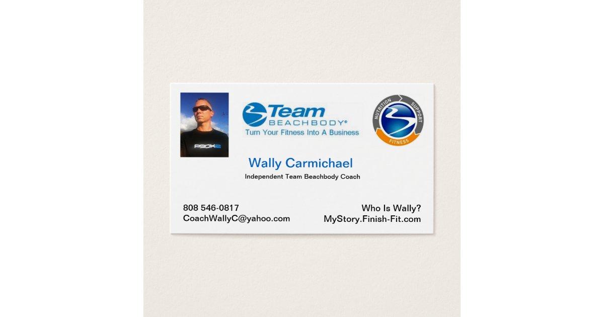 Team Beachbody Business Card   Zazzle.com