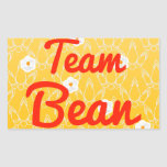 Team Bean Rectangular Sticker