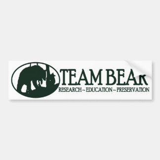 Team Bear Bumper Sticker Green