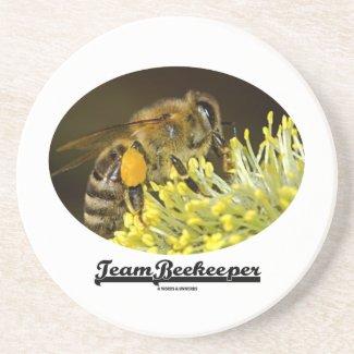 Team Beekeeper (Bee On Yellow Flower) Drink Coaster