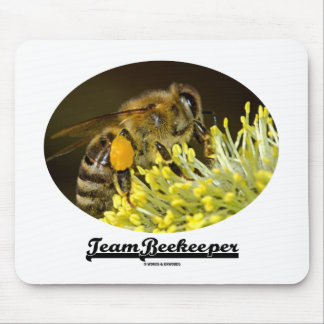 Team Beekeeper (Bee On Yellow Flower) Mouse Pad