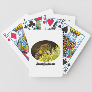 Team Beekeeper (Bee On Yellow Flower) Playing Cards
