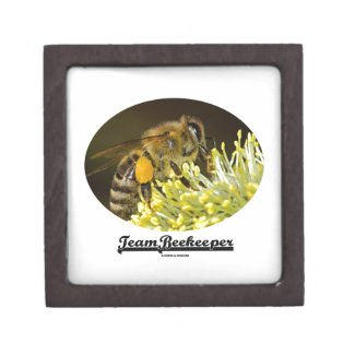 Team Beekeeper (Bee On Yellow Flower) Premium Trinket Boxes