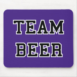 Team Beer - Any Team Colors Mouse Pad