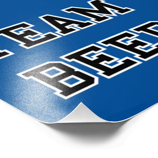 Team Beer - Any Team Colors Photo Print