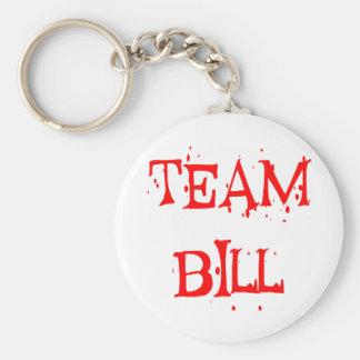 Team Bill Basic Round Button Keychain