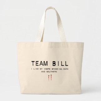team bill tote bags