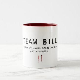 team bill Two-Tone coffee mug