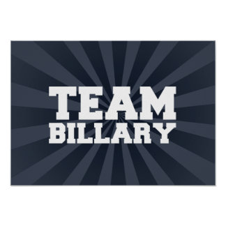 TEAM BILLARY CLINTON 2016 POSTER