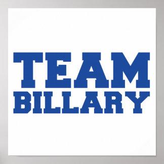 TEAM BILLARY CLINTON.png Print