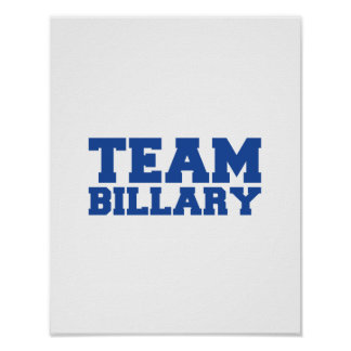TEAM BILLARY CLINTON.png Posters