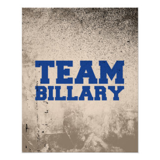 TEAM BILLARY CLINTON PRINT
