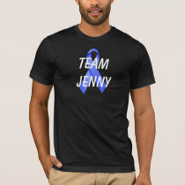 Team Black Anal Cancer Blue Ribbon Shirt