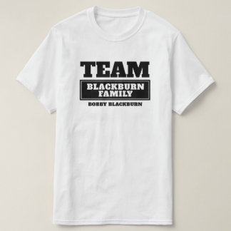 Team black personalized family or group t-shirt