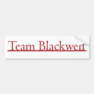 Team Blackwell Car Bumper Sticker