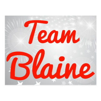 Team Blaine Postcards
