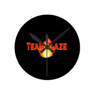 Team BLAZE Round Clock