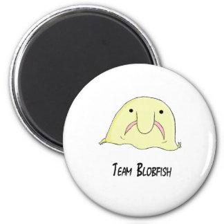 team blob 2 inch round magnet