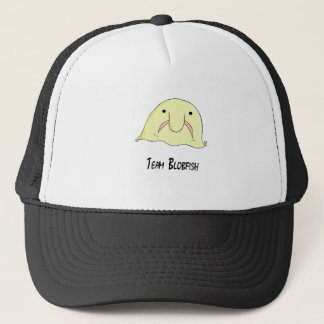 team blob trucker hat