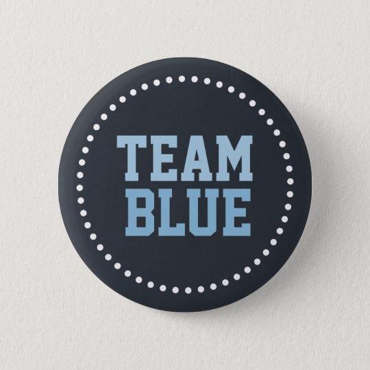 Team Blue Chalkboard Baby Gender Reveal Pinback Button