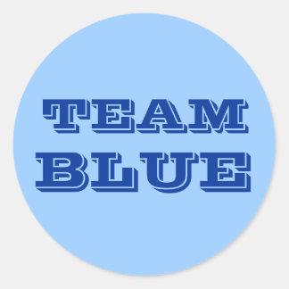 Team Blue Classic Round Sticker